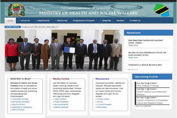 Ministry of Health Web Portal