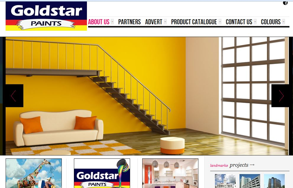 Goldstar Paints Website