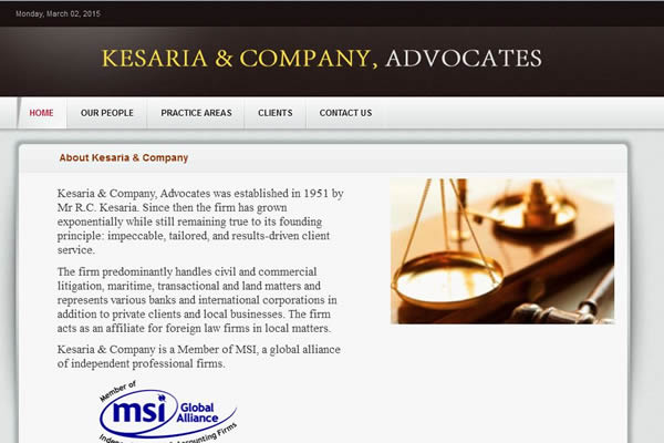 Kesaria Law Advocates Web Portal