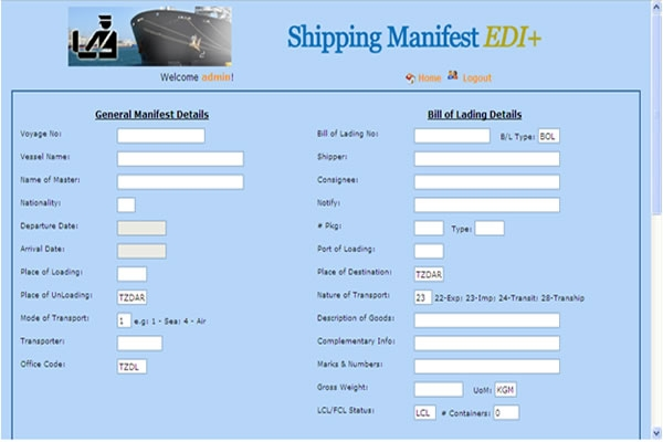 Shipping Manifest Interface with Asycuda ++